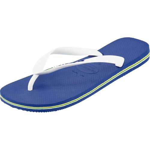 havaianas Brasil Logo - Sandales Homme - bleu